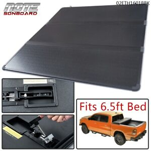For 2004 2015 Nissan Titan Kit 6 5ft 78in Bed Hard Solid Tri Fold Tonneau Cover