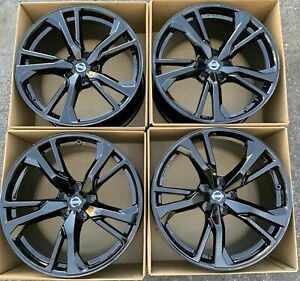 19 Nissan 370z 370 Forged Wheels Factory Oem Rims Gloss Black 2018 2019 Rays