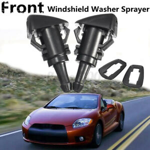Pair 43mm Windshield Washer Spray Nozzle Jet For Mitsubishi Eclipse