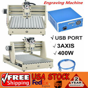 3040 Cnc Engraver 400w 3 Axis Router Machine Usb Engraving Milling Kits