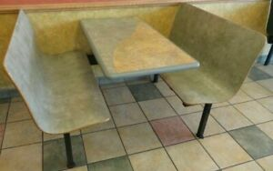 Plymold Inc Booth Set Includes 2 Booth Seats 42 l Plus A 42 X 24 Table used