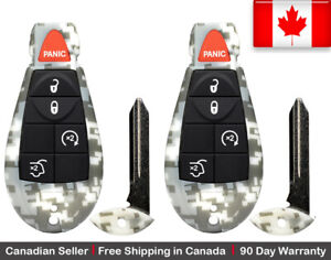 2x New Camouflage Keyless Remote Key Fob For Jeep Grand Cherokee Commander