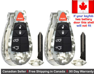 2x New Camouflage Keyless Remote Key Fob Shell For Jeep Grand Cherokee Commander