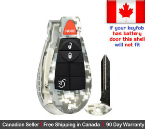 1x New Camouflage Keyless Remote Key Fob Shell For Jeep Grand Cherokee Commander
