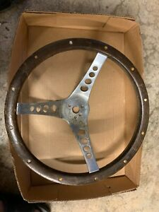 Vintage The 500 Superior Performance Products Wood Steering Wheel Rat Rod