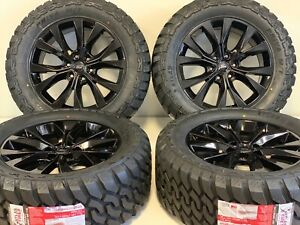 20 Oem Factory Ford F 150 King Ranch Black Wheels Rims Tires Off road Lariat 6