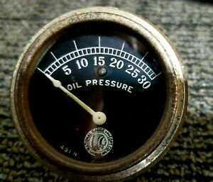 National Gauge 1920 S Vintage Auto Oil Pressure Gauge Rat Rod