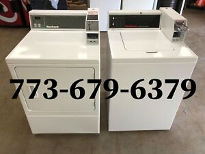 Speed Queen Commercial Top Load Washer Electric Dryer Coin Operated Set