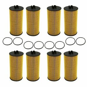 Replacement fl 2016 8pcs Oil Filter For 2003 2010 Ford 6 0l 6 4l Diesel