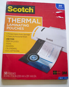 2 Packs Scotch Letter Size Thermal Laminating Pouches 3 Mil 11 1 2 X 9 50p385450