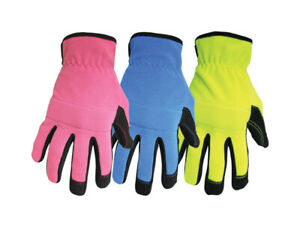 Boss 420l Assorted Color Kids Mechanic Style Work Gloves With Open Cuff