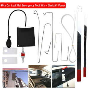 10pcs Car Door Open Tool Key Lock Out Emergency Kit Unlock Air Pump Universal