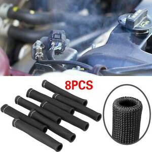 2500 Black Spark Plug Wire Boots Protector Sleeve Heat Shield Cover For Ls1 Ls2