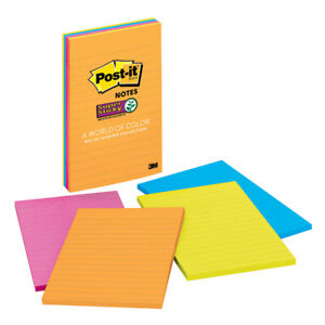 Post it Post it Ss Notes 4x6 Lined 4 Pads