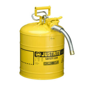 Justrite 7250230 5 Gallon Accuflow Type Ii Steel Safety Can yellow diesel