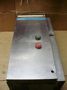 Siemens Encsf48t Stainless Steel Enclosure W Back Plate 22x11x8