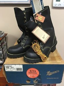 Danner Flashpoint Mens 9 Wildland Firefighting 10 Leather Boots 18000 Usa Black