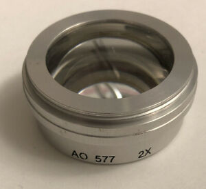 A O American Optical 2x Lens For Stereo Zoom Microscope Used In Excellent
