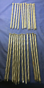 24 Nail Landscape Timber Spikes 3 8 10 Inch Railroad Tie Log Cabin Spiral Shank