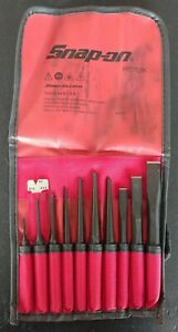 New Snap On Tools 11 Piece Punch Chisel Set W Kit Bag Ppc710bk New Ships Free