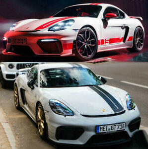 Graphics Racing Stripe Car Sticker Decal Fit For Porsche 718 Boxster Cayman T