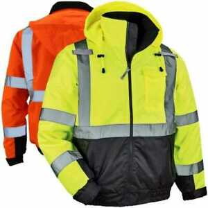 Ergodyne Glowear 8377 Thermal High Visibility Quilted Bomber Jacket Class 3