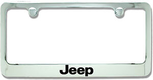 Jeep Chrome Plated Metal License Plate Frame Holder