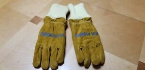 Firefighters Gloves Midnight Blue Cowhide Med