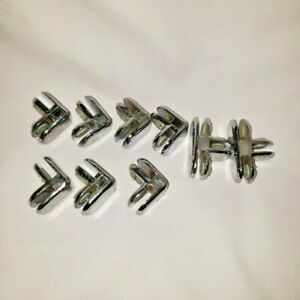 9 Chrome Connectors For Holding Glass Display Shelves 7 Corner 2 3 Way