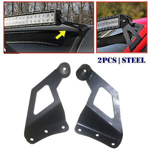 2psc Off Road Roof Led Light Strip Bracket Car Upper Bar Mounting Bracket Steel
