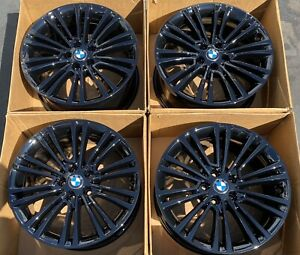 18 Bmw 5 series Factory Wheels Rims Gloss Black Oem 6863420 530i 540i 550i 2017