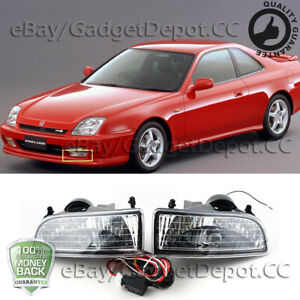 For 1997 1998 1999 2000 2001 Honda Prelude Fog Lights Clear Lens Driving Lamps