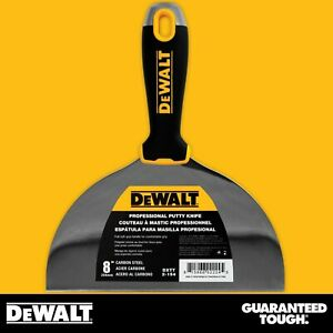 Dewalt Putty Knife 8 Carbon Steel Flexible Drywall Joint Paint Scraper