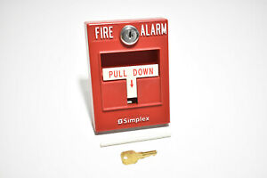 Simplex 4099 9001 0630763 Addressable Pull Station Red Fire Alarm Pull