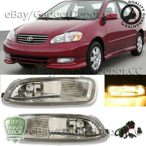 Clear Fog Light Fit For 2003 2004 Toyota Coralla Ce Le S Bumper Dlr Driving Lamp