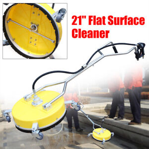 Flat Surface Cleaner Water Power Pressure Washer Concrete Driveway 21 4000 Psi
