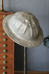 Vintage B f Mcdonald Aluminum Hard Hat Safety Bump Hat Silver Us Military Miner