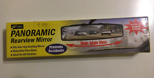 Panoramic Rear View Mirror New In Box Nib Eliminates Blind Spots Adjustable