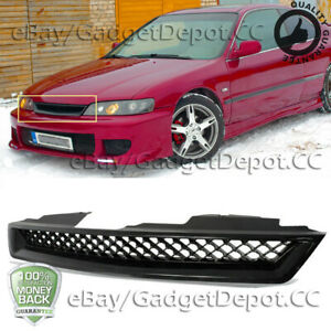 For 1994 1997 Honda Accord Dx Lx Ex Black Honeycomb Mesh Hood Front Grille Grill