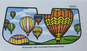 Vintage Gila Windshield Sun Shade Hot Air Balloons Large Cardboard New 1995