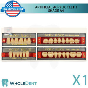 Artificial Acrylic Teeth Shade A4 Dental Ruthinium Denture 28 Size Select