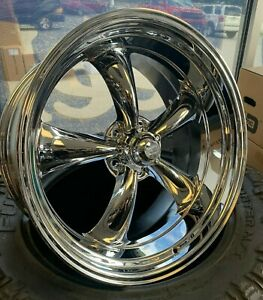 4 Vn615 Torq Thrust Ii Wheels 22x9 22x11 Chevy C10 Staggered Chrome Set Of 4