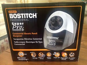 Bostitch Super Pro 6 Commercial Electric Pencil Sharpener Gray black Eps12hc Nib