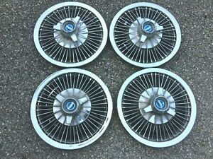 1965 1966 1967 Ford 14 Spinner Wire Wheel Hubcaps Mustang Fairlane Thunderbird