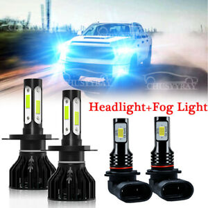 Combo Led Headlight Kit For Toyota Tundra 2000 2006 Hi low Beam Fog Light Bulb