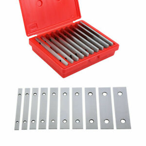 10 Pairs Machinist s Thin Parallel Bar Set 1 8inch X 6inch 0 0005 Flat Vise Horn
