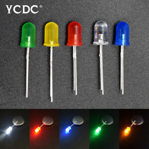 100pcs lot 5mm 3mm Led Light Round Top Color Diffused Emitting Diode Lamps F041