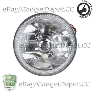 Clear Led Fog Lights Lamps Universal 4 Round White Halo Chrome Housing Drl Lamp