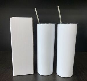 5 Pack 20oz Blank Skinny Sublimation Tumbler in Stock fast Ship Priority Mail