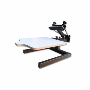 Manual 1 Color 1 Station Silk Screen Printing Machine T shirt Press Printer